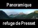 alpes240: Panoramique du refuge de Presset - 2514 m