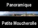 vercors.21: Panoramique depuis l'abri de la petite Moucherolle - falaises du Vercors et Grand Veymont