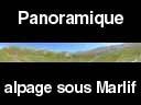 queyras462: Panoramique dans l?alpage sous le col de Marlif ? Queyras